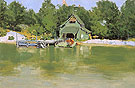 Boat House at Ingleneuk ca 1903 - Frederic Remington reproduction oil painting