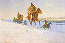 The Snow Trail 1908 - Frederic Remington reproduction oil painting