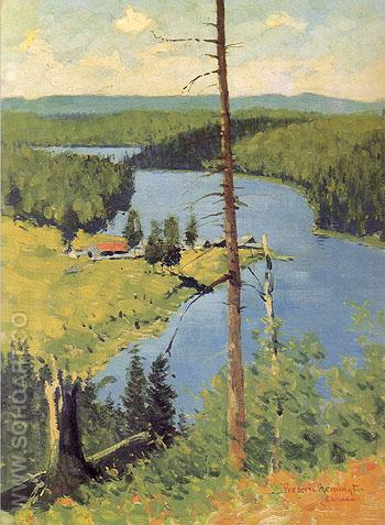 The Moose Country 1909 - Frederic Remington reproduction oil painting