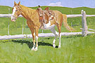Sorrel Horse Study 1899 - Frederic Remington reproduction oil painting