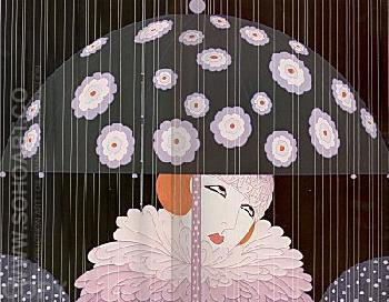 Erte Spring Showers - Erte reproduction oil painting