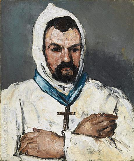 Uncle Dominic as a Monk c 1865 - Paul Cezanne reproduction oil painting