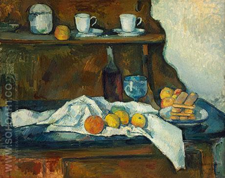 The Buffet 1873 - Paul Cezanne reproduction oil painting