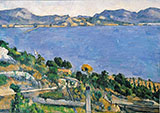 Bay of Marseilles From L Estaque 1878 - Paul Cezanne reproduction oil painting