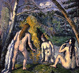 Three Bathers 1875 - Paul Cezanne