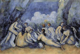 The Great Bathers 1900 - Paul Cezanne reproduction oil painting