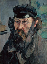 Self-Portrait in a Casquette - Paul Cezanne