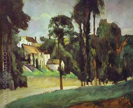 Road at Pontoise 1875 - Paul Cezanne reproduction oil painting