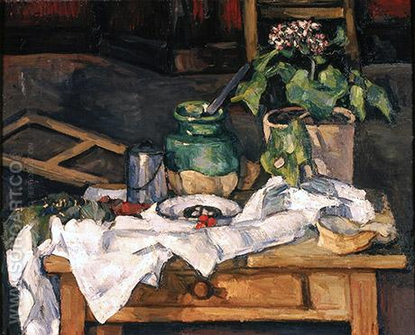 Vase of Flowers on a Table 1882 - Paul Cezanne reproduction oil painting
