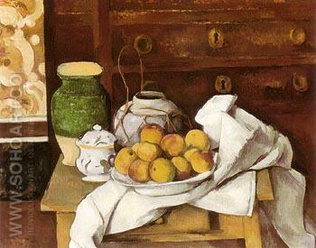 Still Life with a Chest of Drawers 1883 - Paul Cezanne reproduction oil painting