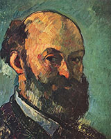 Self Portrait 1879 - Paul Cezanne reproduction oil painting