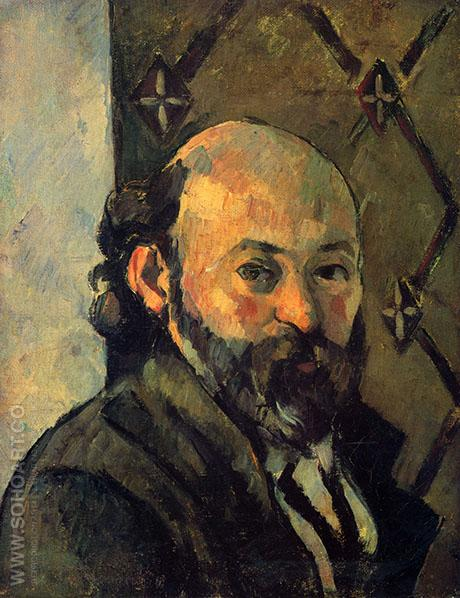 Self Portrait 1879 2 - Paul Cezanne reproduction oil painting