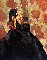 Self Portrait with a Pink Background - Paul Cezanne reproduction oil painting