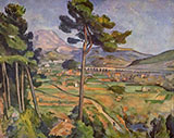 Mont Sainte Victoire View from Bellevue 1882 - Paul Cezanne reproduction oil painting