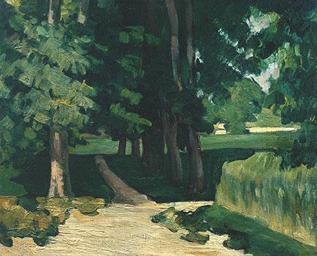 Avenue in Jas de Bouffan c1869 - Paul Cezanne reproduction oil painting