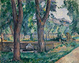 Bassin in Jas de Bouffan 1880 - Paul Cezanne reproduction oil painting