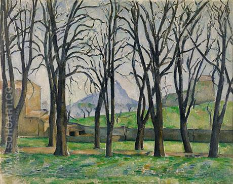 Chestnut Trees At The Jas De Bouffan - Paul Cezanne reproduction oil painting