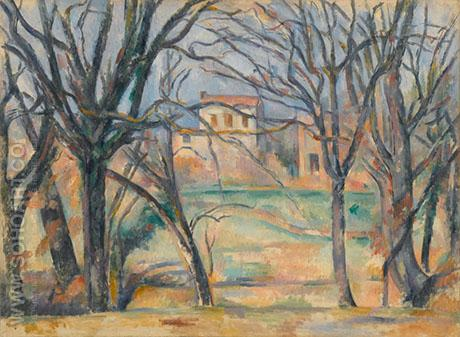 Trees and Houses - Paul Cezanne reproduction oil painting