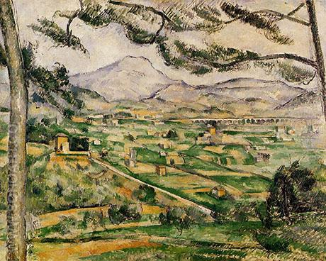 The Great Pine Mont Sainte Victoire 1886 - Paul Cezanne reproduction oil painting