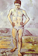 The Great Bather c 1885 - Paul Cezanne reproduction oil painting