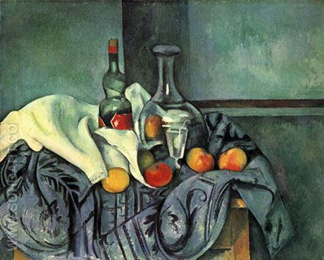 A Bottle of Peppermint 1890 - Paul Cezanne reproduction oil painting
