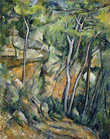 In the Park of the Chateau Noir 1900 2 - Paul Cezanne reproduction oil painting