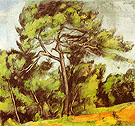 Great Pine 1890 - Paul Cezanne reproduction oil painting