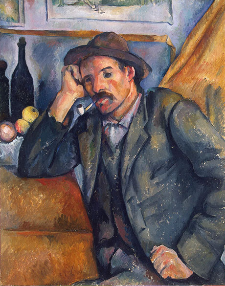 The Smoker 1895 - Paul Cezanne reproduction oil painting