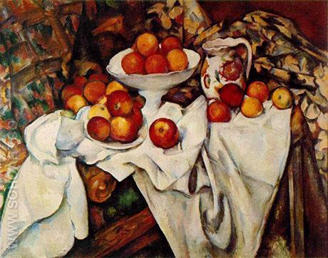 Apples and Oranges 1898 - Paul Cezanne reproduction oil painting