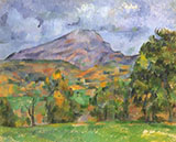 Le Montagne St.Victoir - Paul Cezanne reproduction oil painting