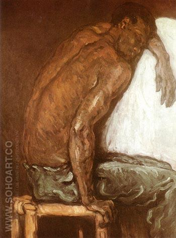 The Black Skipion 1867 - Paul Cezanne reproduction oil painting