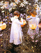 Carnation Lily, Lily Rose 1885 - John Singer Sargent reproduction oil painting