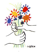Hand with Flowers - Pablo Picasso reproduction oil painting