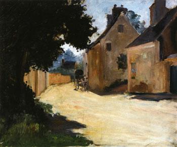 Village Street, Louveciennes c1871 - Pierre Auguste Renoir reproduction oil painting
