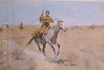 The Flight - Frederic Remington reproduction oil painting