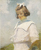 Portrait of Elisabeth 1901 - Frank Weston Benson reproduction oil painting