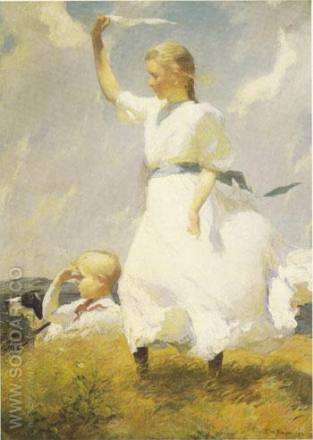 The Hilltop - Frank Weston Benson reproduction oil painting