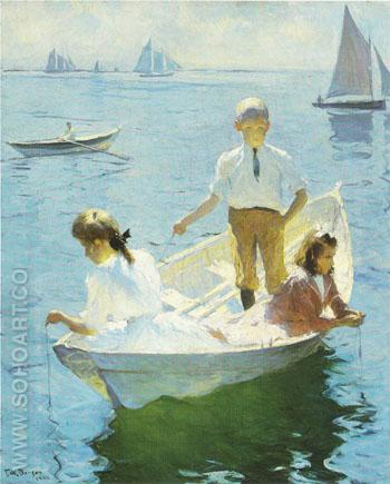 Calm Morning 1904 - Frank Weston Benson reproduction oil painting