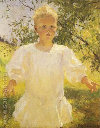 Laddie 1908 - Frank Weston Benson reproduction oil painting
