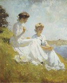 Elisabeth and Anna 1909 - Frank Weston Benson reproduction oil painting