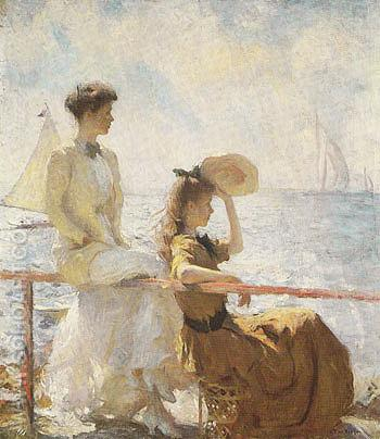 Summer Day 1911 - Frank Weston Benson reproduction oil painting