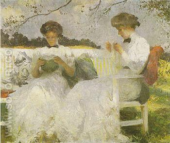 Afternoon in September 1913 - Frank Weston Benson reproduction oil painting