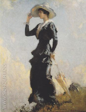 The Hill Top 1914 - Frank Weston Benson reproduction oil painting