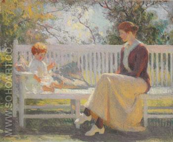 Eleanor and Benny 1916 - Frank Weston Benson reproduction oil painting