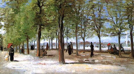 Lane at the Jardin du Luxembourg - Vincent van Gogh reproduction oil painting