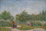 Voyer d'Argenson Park at Asnieres - Vincent van Gogh reproduction oil painting