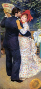 Dance in the Country 1883 - Pierre Auguste Renoir reproduction oil painting
