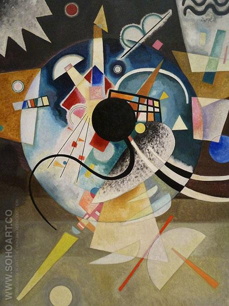 One Center - Wassily Kandinsky reproduction oil painting