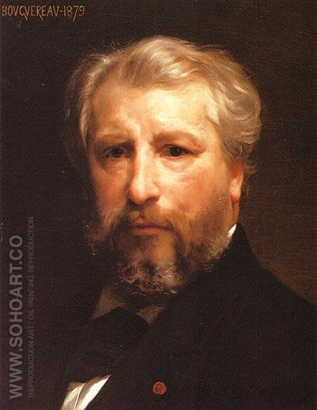 Self Portrait 1879 - William-Adolphe Bouguereau reproduction oil painting