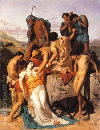 Zenobia Found by Shepherds on the Banks of the Araxes 1850 - William-Adolphe Bouguereau reproduction oil painting